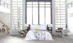 Open Plan Concrete Floor Bedroom