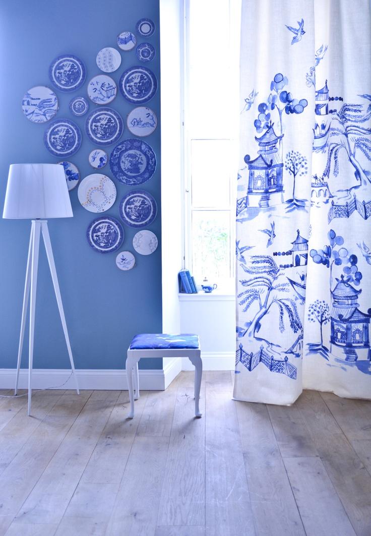 Watercolour curtains