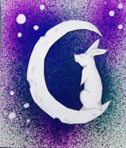 """""""Stargazing Hare"""" by India Wells"""
