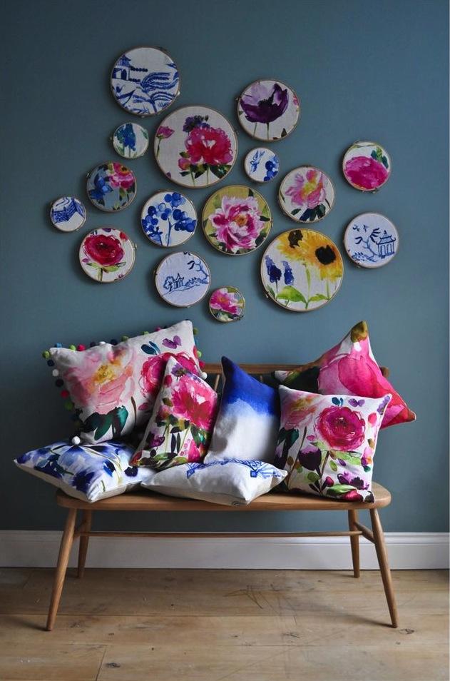 Watercolour cushions