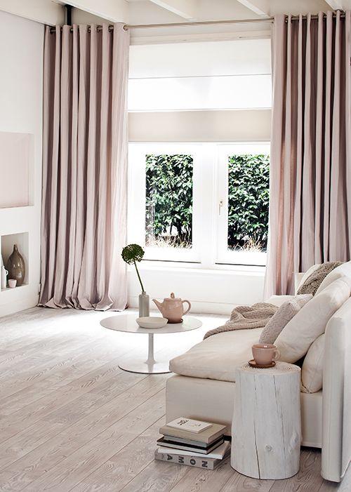 Blush curtains