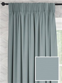 pencil pleat ready made curtains in Heron. 100% cotton.