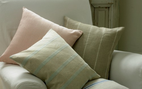Cushions on arm chair