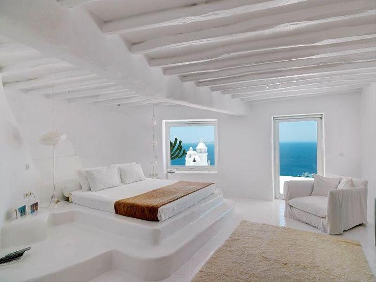 Greek interiors natural curtain company for Greek bedroom decor