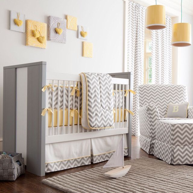 yellow and grey curtains for baby room