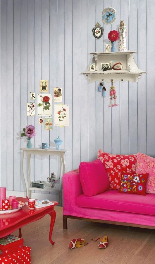 Colourspiration Hot Pink Natural Curtain Company