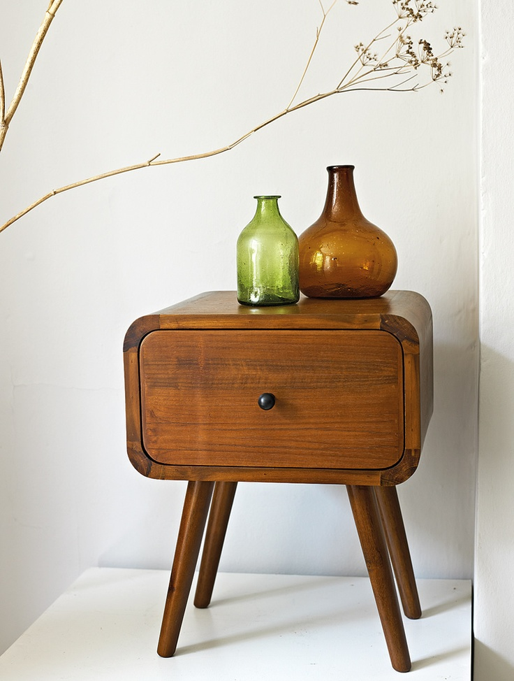 Accessory of the week teak natural curtain company for 10 bedside table