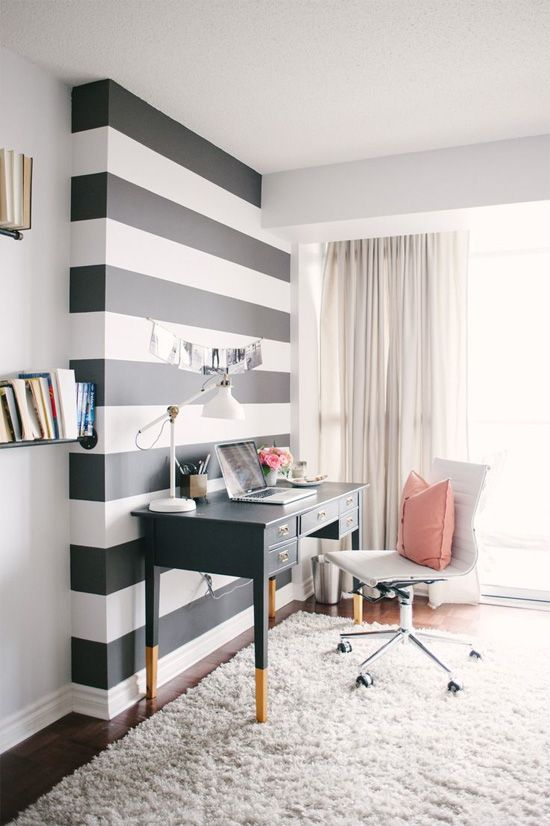 Stripe feature wall
