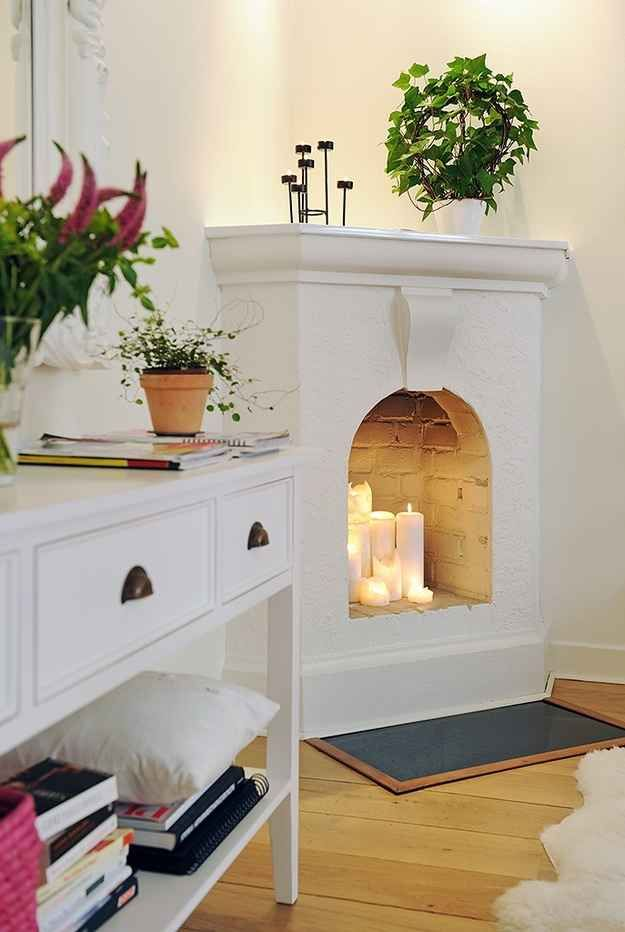 Candle fireplace