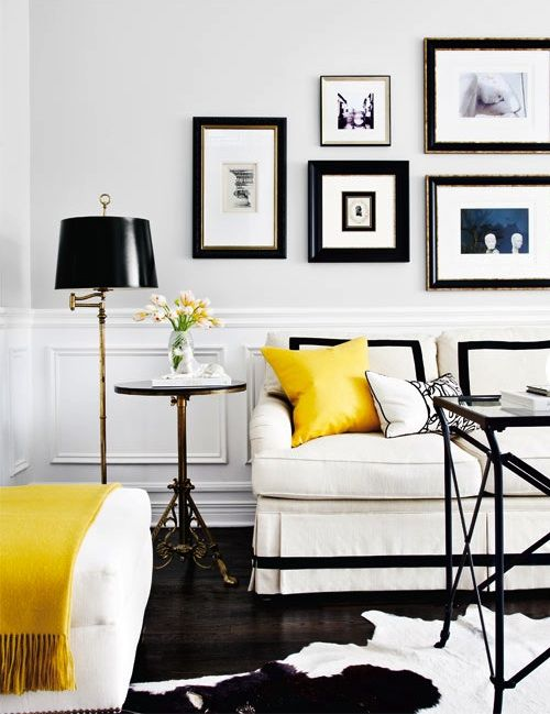 Monochrome with yellow
