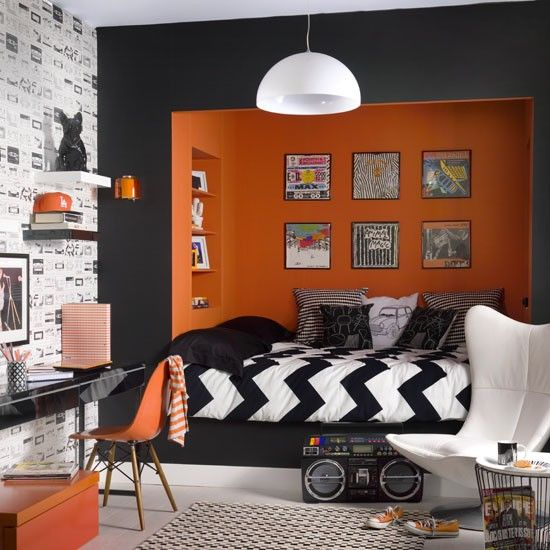 Monochrome with orange