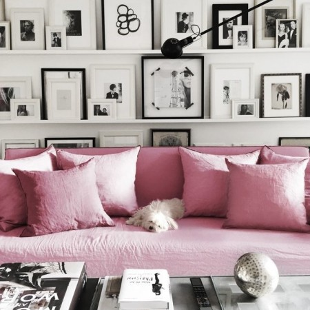 Monochrome with pink