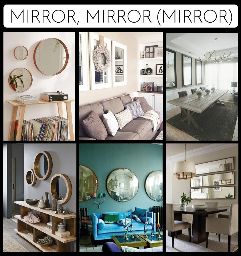 Trios of mirrors