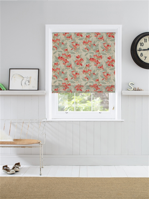 Roman Blinds In Cherries Natural Curtain Company