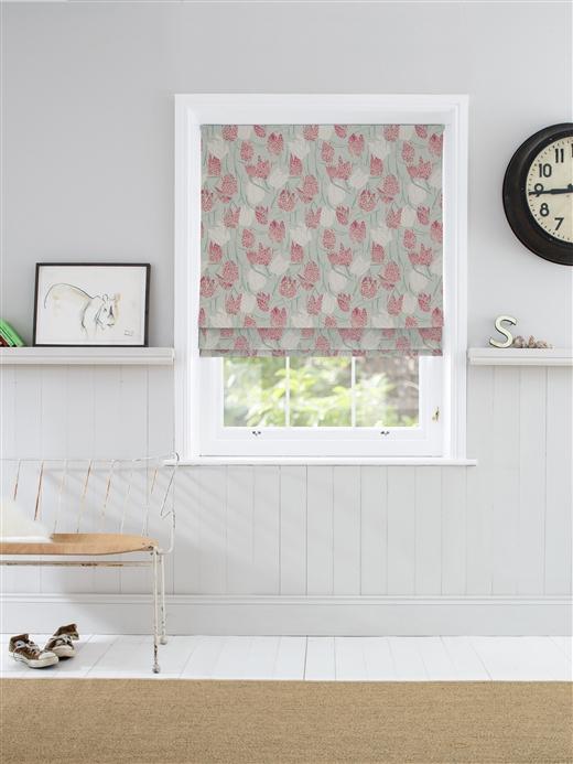 Roman Blinds In Fritillary G Natural Curtain Company