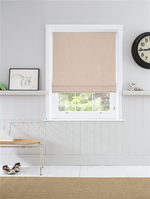 Roman Blinds In Pinky Natural Curtain Company