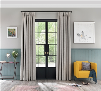 Pencil pleat curtains in Cirrus