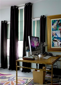 Modern office curtains with roller blinds