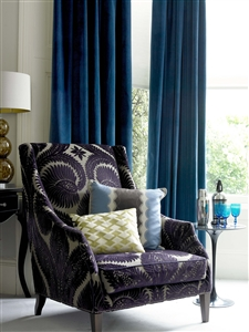 Living room velvet curtains