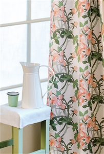 Curtain in Peonies