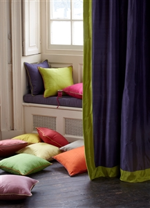 Lined and interlined silk curtains