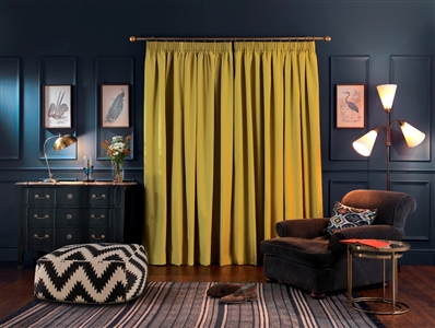 Warm velvet curtains