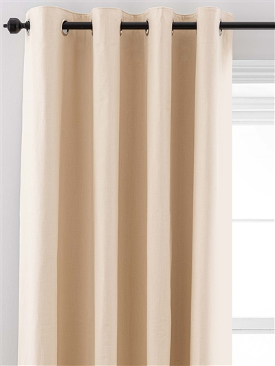 eyelet ready made curtains in Luna.  100% cotton.