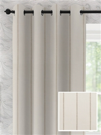 eyelet ready made curtains in Havana cotton.  60% off.