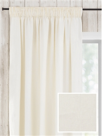 pencil pleat ready made curtains in May.  100% linen.