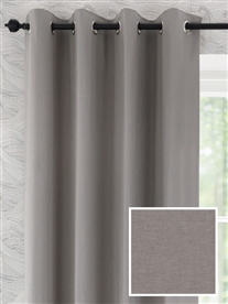 eyelet ready made curtains in Woodcroft.  100% cotton.