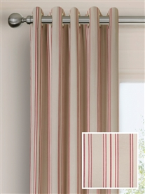 eyelet ready made curtains in Portsea.  100% cotton.