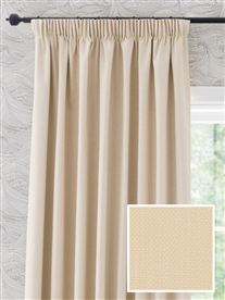 pencil pleat ready made curtains in Luna.  100% cotton.