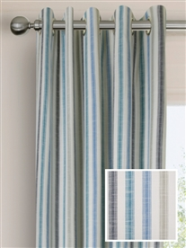 eyelet ready made curtains in Biscay.  100% cotton.