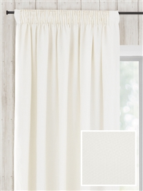 pencil pleat ready made curtains in April.  100% linen.