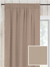 pencil pleat ready made curtains in Doe. 50% off.