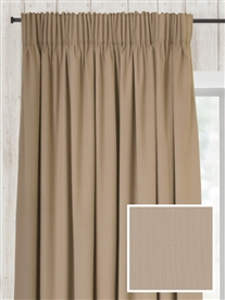 pencil pleat ready made curtains in Doe. 100% cotton.