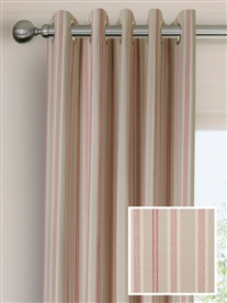 eyelet ready made curtains in Osea.  100% cotton.