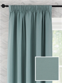 pencil pleat ready made curtains in Toppin.  100% cotton.