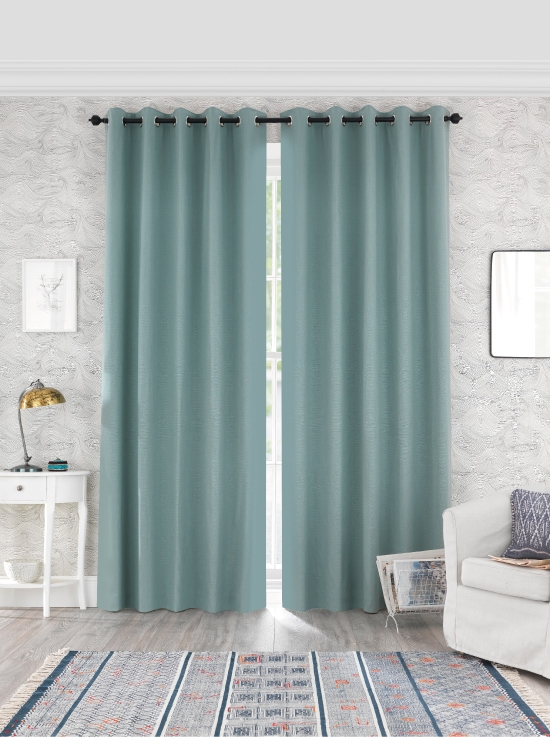 Ready Made Curtains In Toppin 100 Cotton Natural