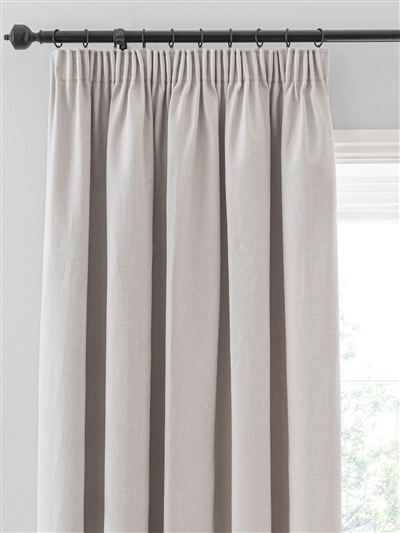 pencil pleat ready made curtains in Dalton. 100% cotton.