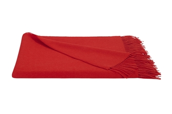 Red Baby Alpaca Throw