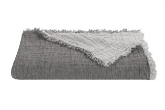 Steel Linen Marais Throw