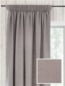 pencil pleat ready made curtains in August.  100% linen.
