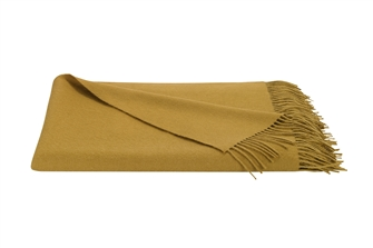 Gold Baby Alpaca Throw