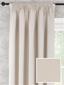 pencil pleat ready made curtains in Melandra.  100% cotton.