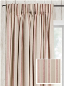 pencil pleat ready made curtains in Osea.  100% cotton.