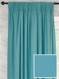 pencil pleat ready made curtains in Fuji. 100% cotton.