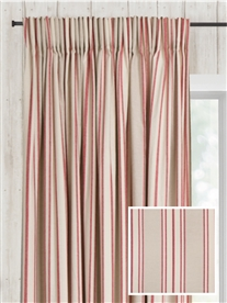 pencil pleat ready made curtains in Portsea.  100% cotton.