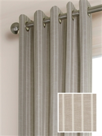 eyelet ready made curtains in Laguna.  100% cotton.