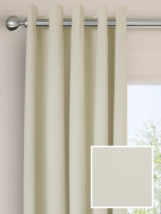 Ready Made Pencil Pleat Curtains In Portobello Natural
